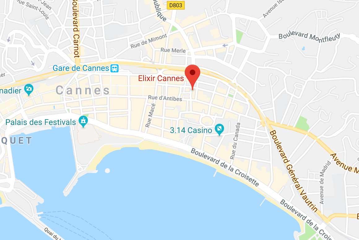 Centre esthétique Elixir 10 boulevard de la République 06400 Cannes